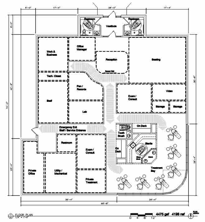 Orthodontics office building design for Office layout plan design