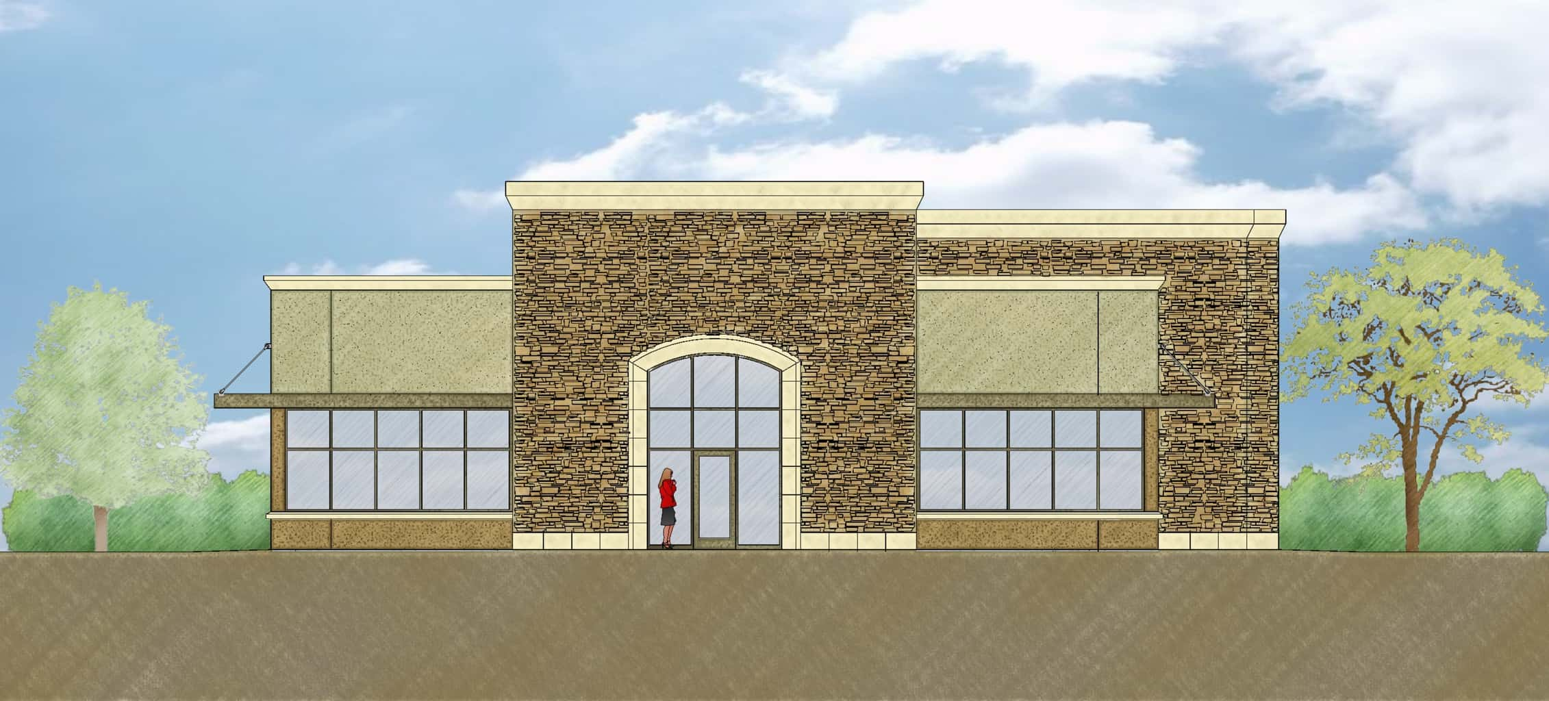 Front Elevation Of Office Building : Orthodontics office d